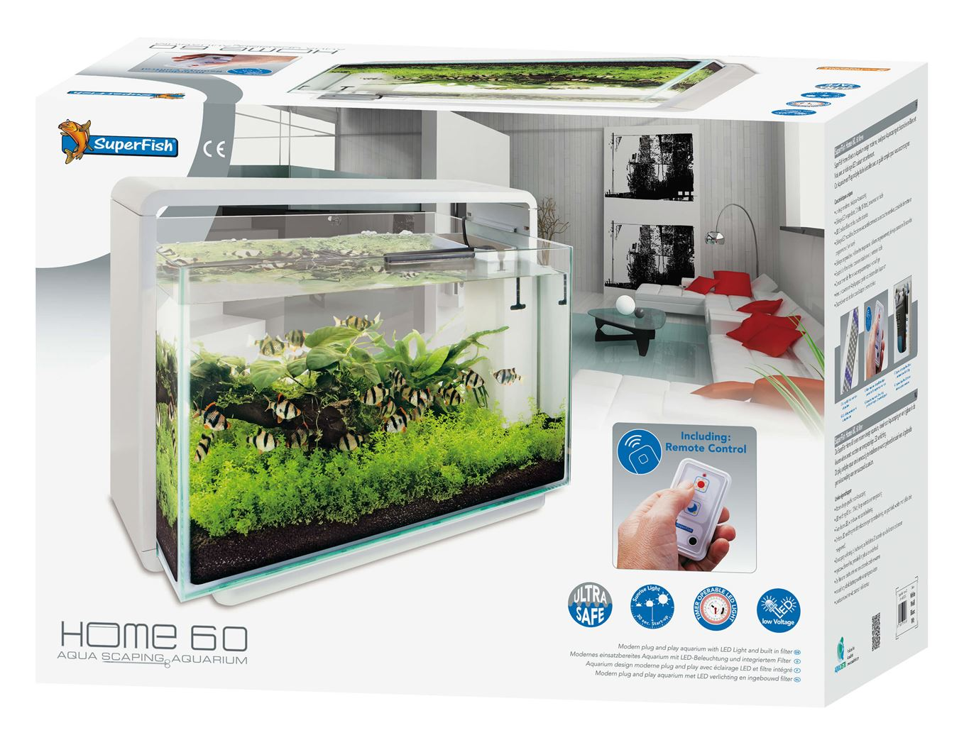 superfish aquarium home 60 wit