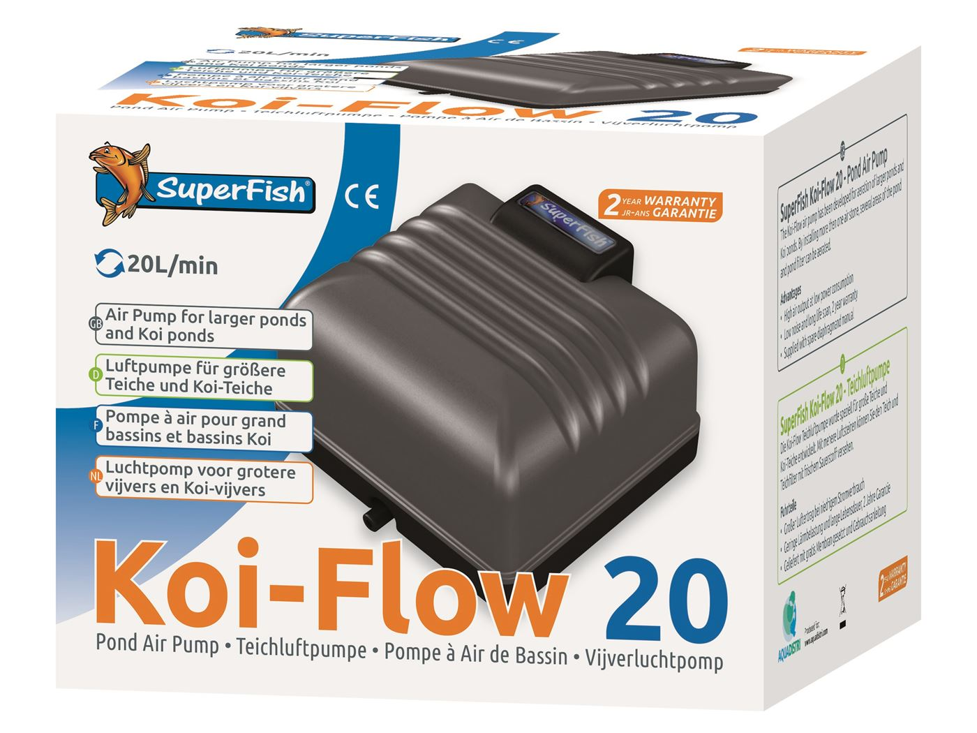 superfish beluchtingspomp koi flow 20