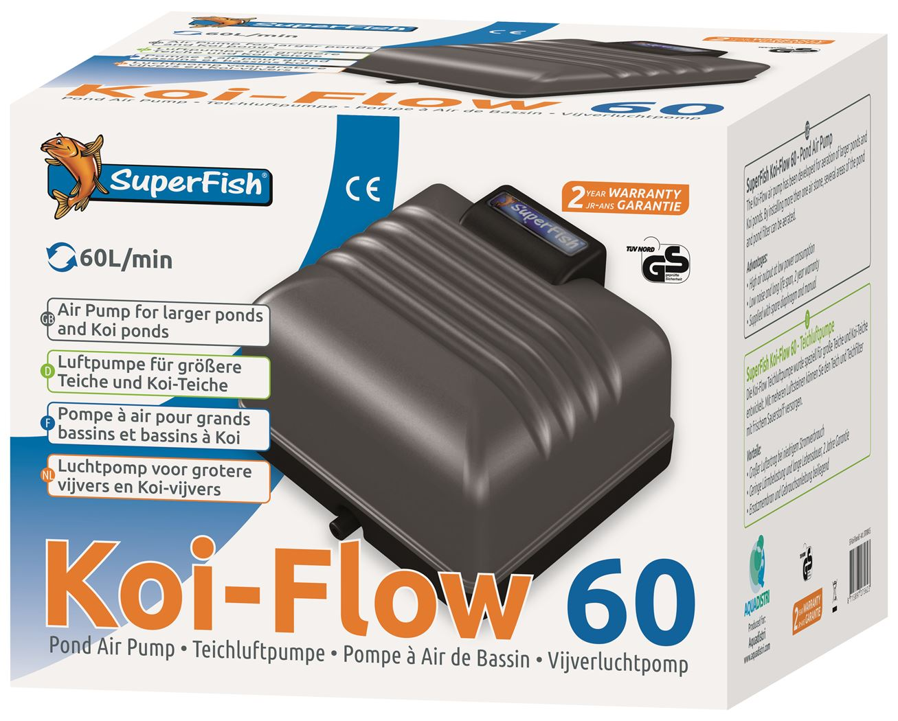 superfish beluchtingspomp koi flow 60