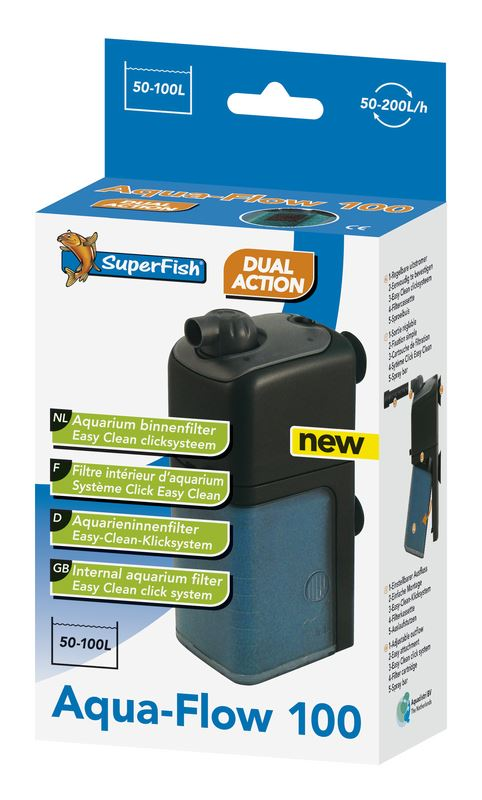 superfish binnenfilter aqua-flow 100