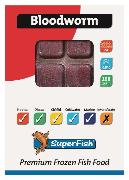 superfish diepvriesvoer - rode muggen (plak)