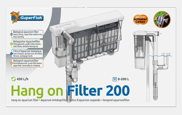 superfish hang on filter 200