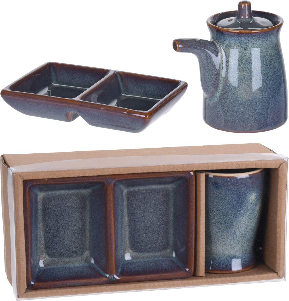 sushiset aardewerk (2-delig)