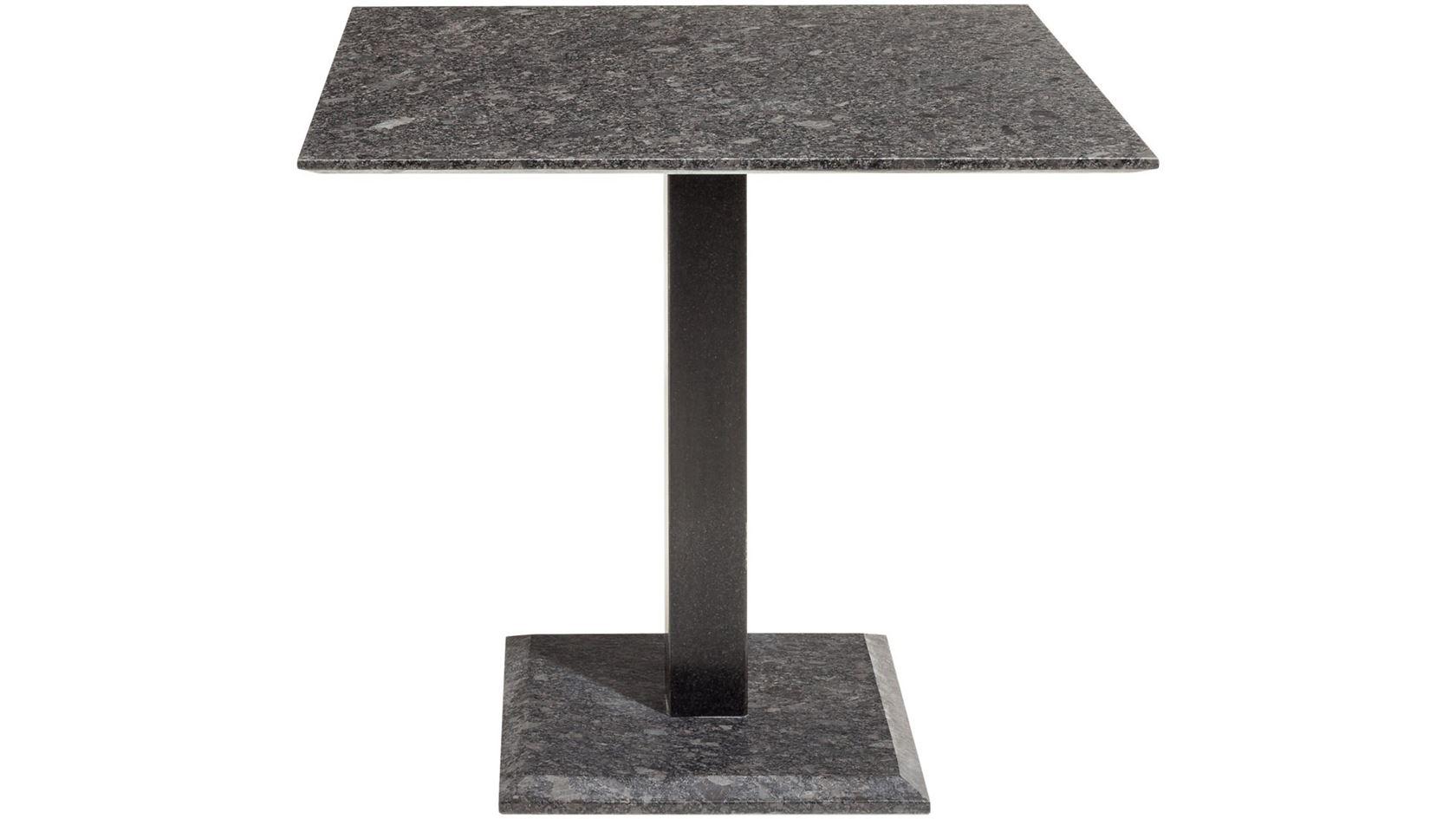 tafel edam, pearl grey satinado, poot 8 x 8cm rvs