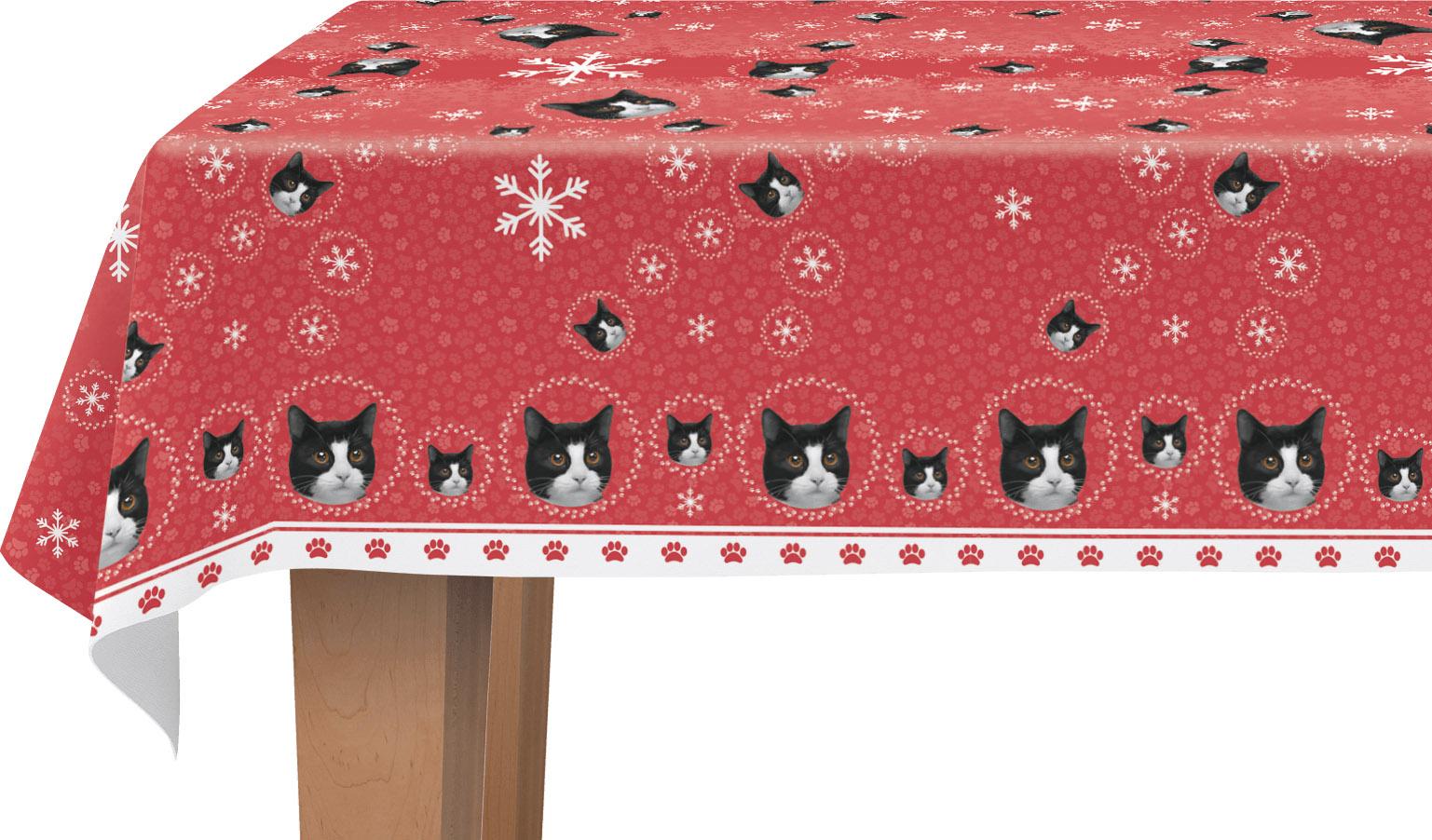 tafellaken kat zwart/wit
