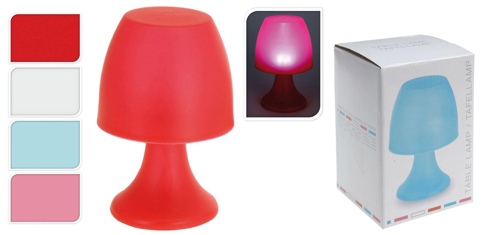 tafellamp b/o (4 kleuren ass.)