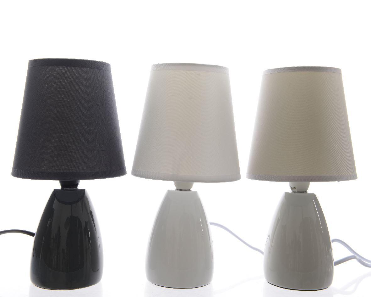 tafellamp keramiek incl.kap (3 kleuren ass.)