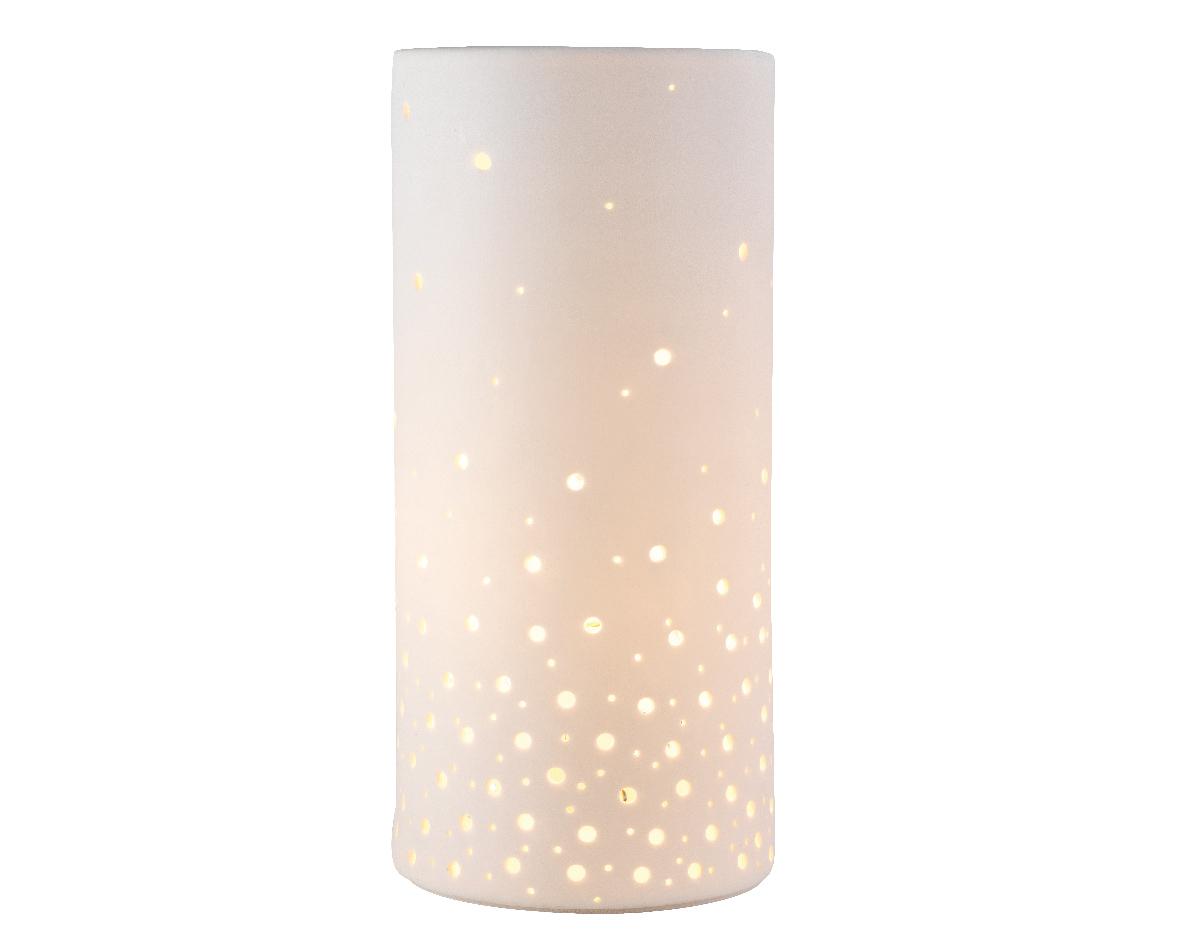 tafellamp porselein uitsnede wit