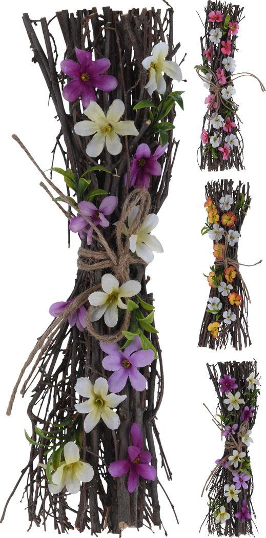 takkenbos met bloemen