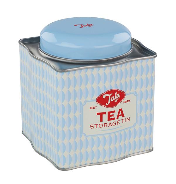 tala bewaardoos metaal vintage thee blauw
