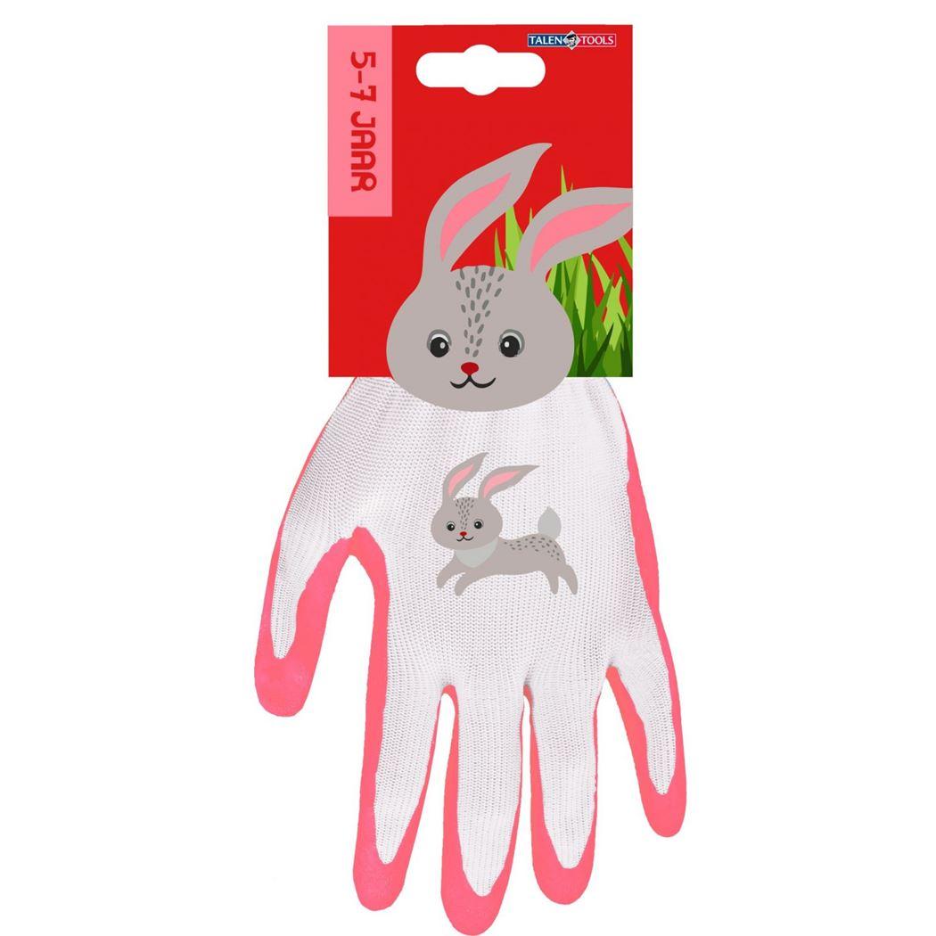 talen tools kinder handschoenen konijn (5-7 j.)