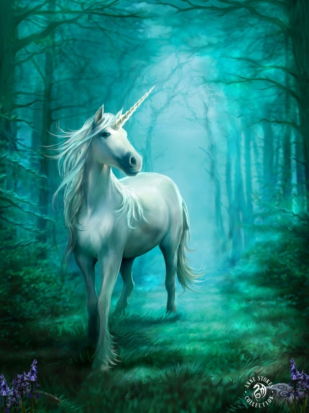 tfy the anne stokes collection 3d - forrest unicorn