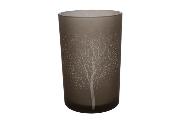theelichthouder potje boom sneeuw grijs