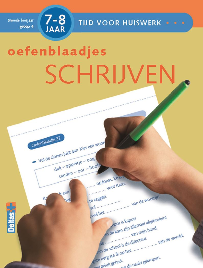tijd voor huiswerk - oefenblaadjes schrijven (7-8 j.)