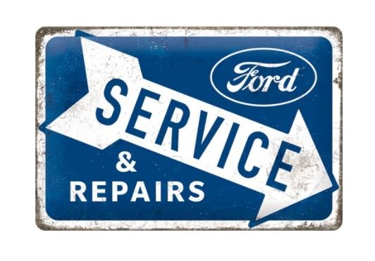 tin sign - ford service