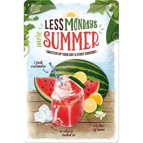 tin sign watermelon summer shake