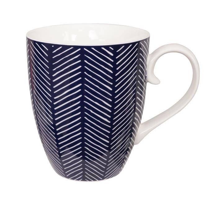 tokyo design studio bleu de'nîmes mug herringbone blue