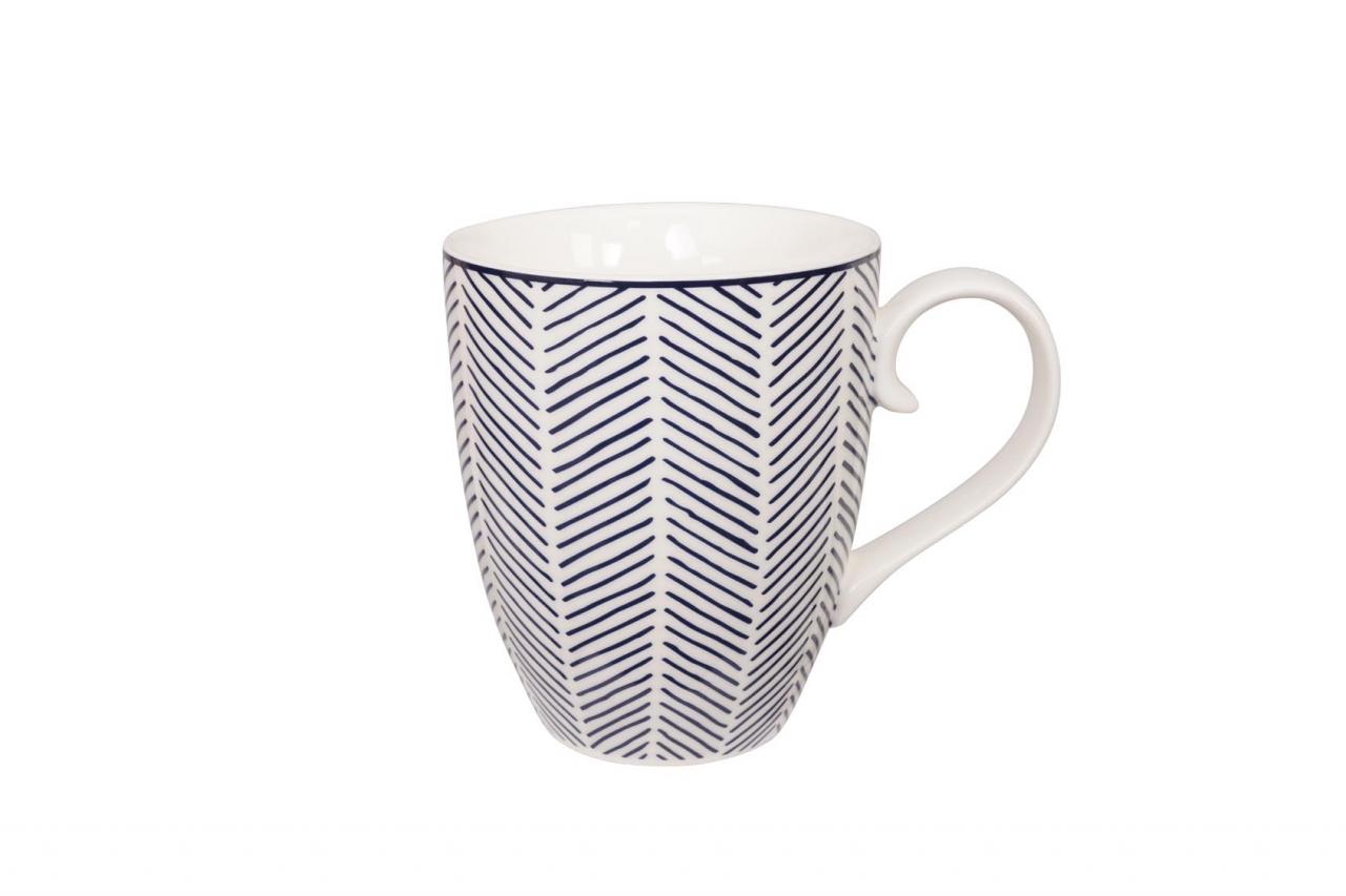 tokyo design studio bleu de'nîmes mug herringbone white