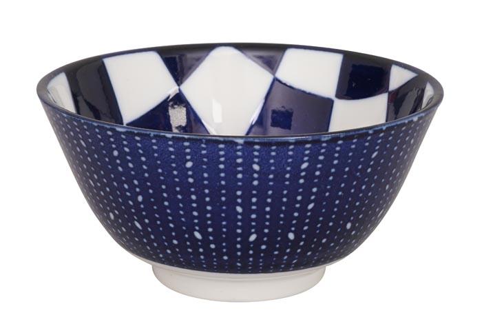 tokyo design studio bleu de'nîmes rice bowl checker