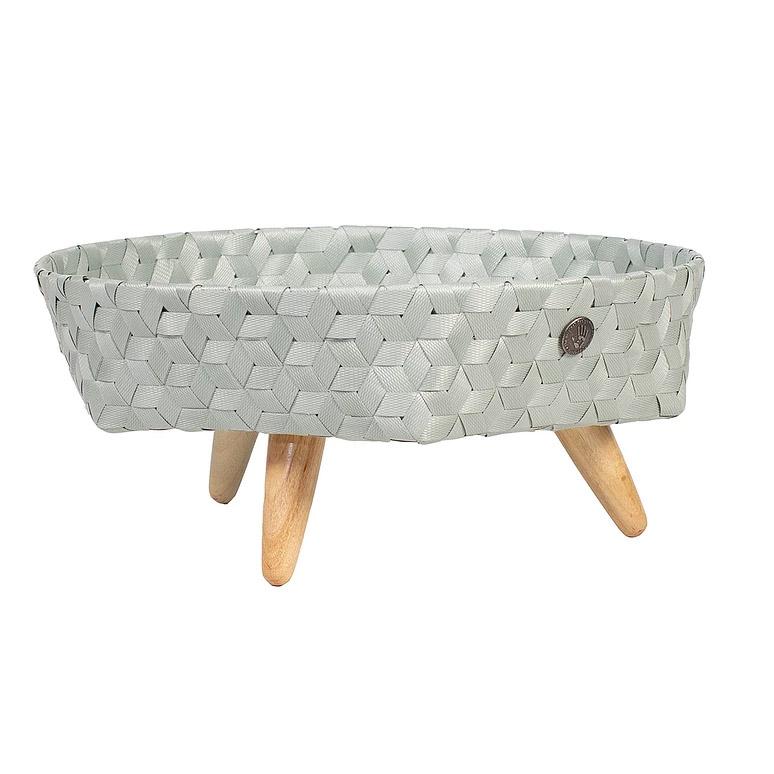 tray basket eucalyptus size l with feet