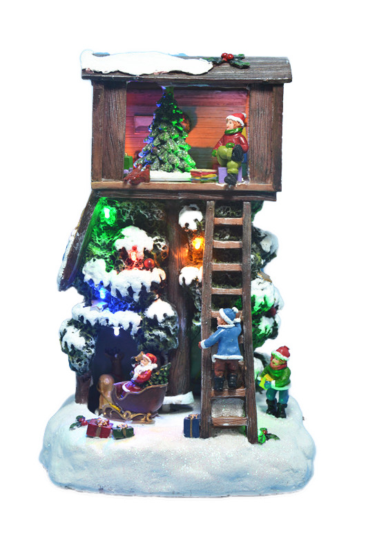 treehouse santa animated led (beweging)