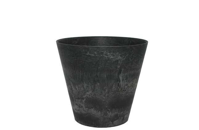 artstone pot claire zwart