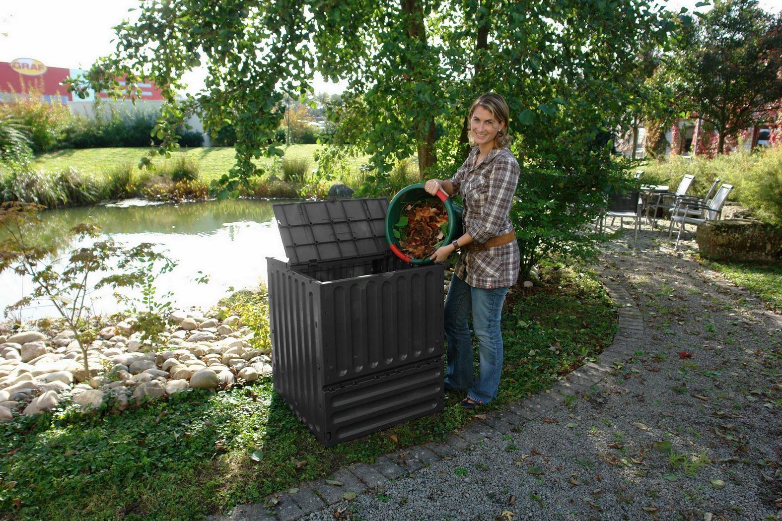 tuincomposter eco-king zwart