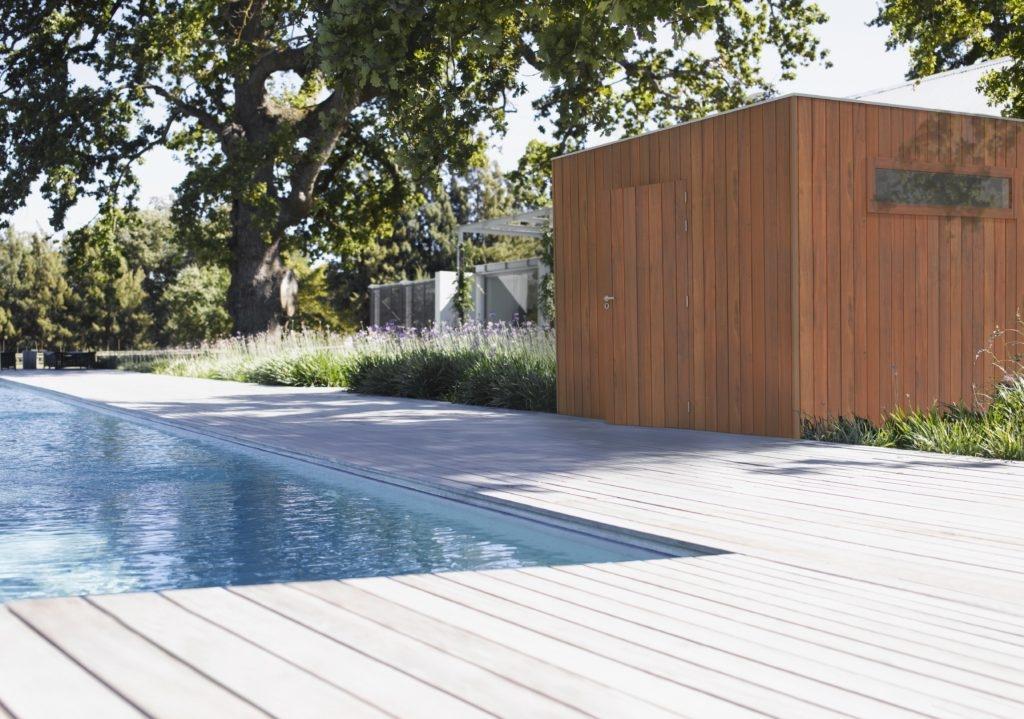 tuinhuis modern grenen