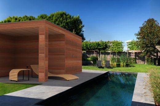 tuinhuis modern fijn + lounge padouk
