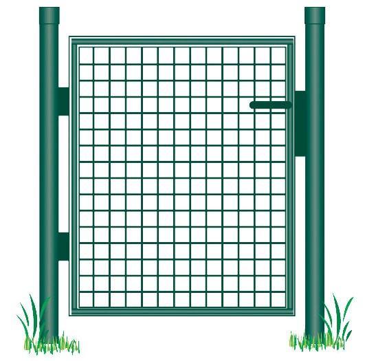 giardino tuinpoort enkel groen gecoat ral6005