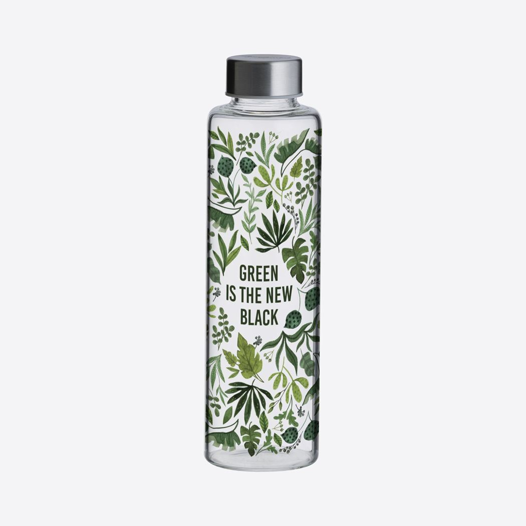 typhoon pure glazen fles green is the new black