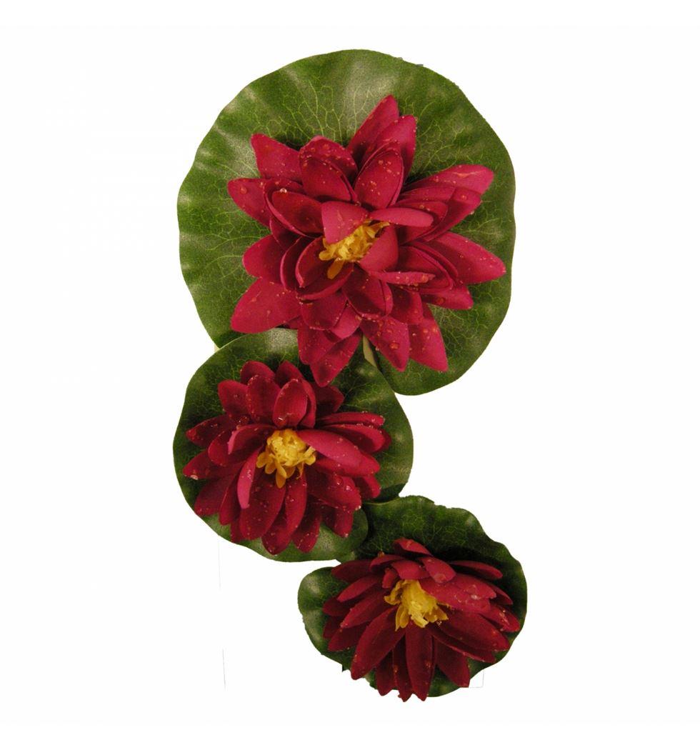 ubbink deco lelie zijden rood (3sts)