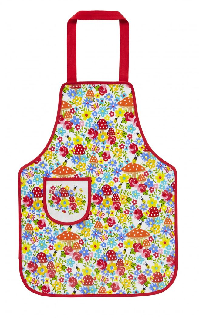 ulster weavers childs apron toadstl