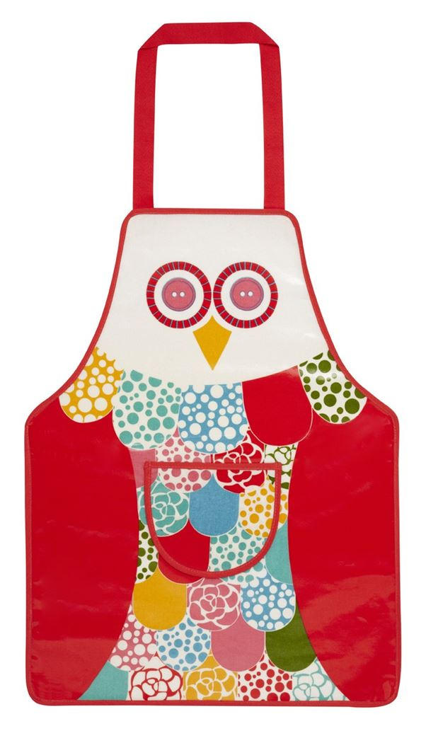 ulster weavers childs pvc apron owl
