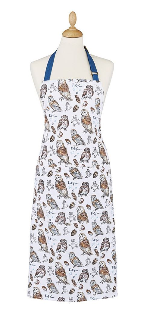 ulster weavers cotton apron owls