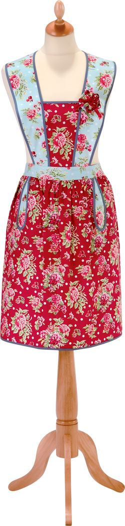 ulster weavers shaped apron ginger