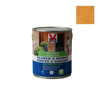 v33 houtbeits deur&ramen eco prot.MAT TEAK