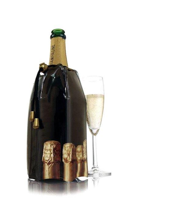 vacu vin champagnekoeler bottles