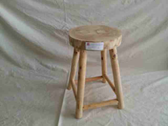 stool wood round