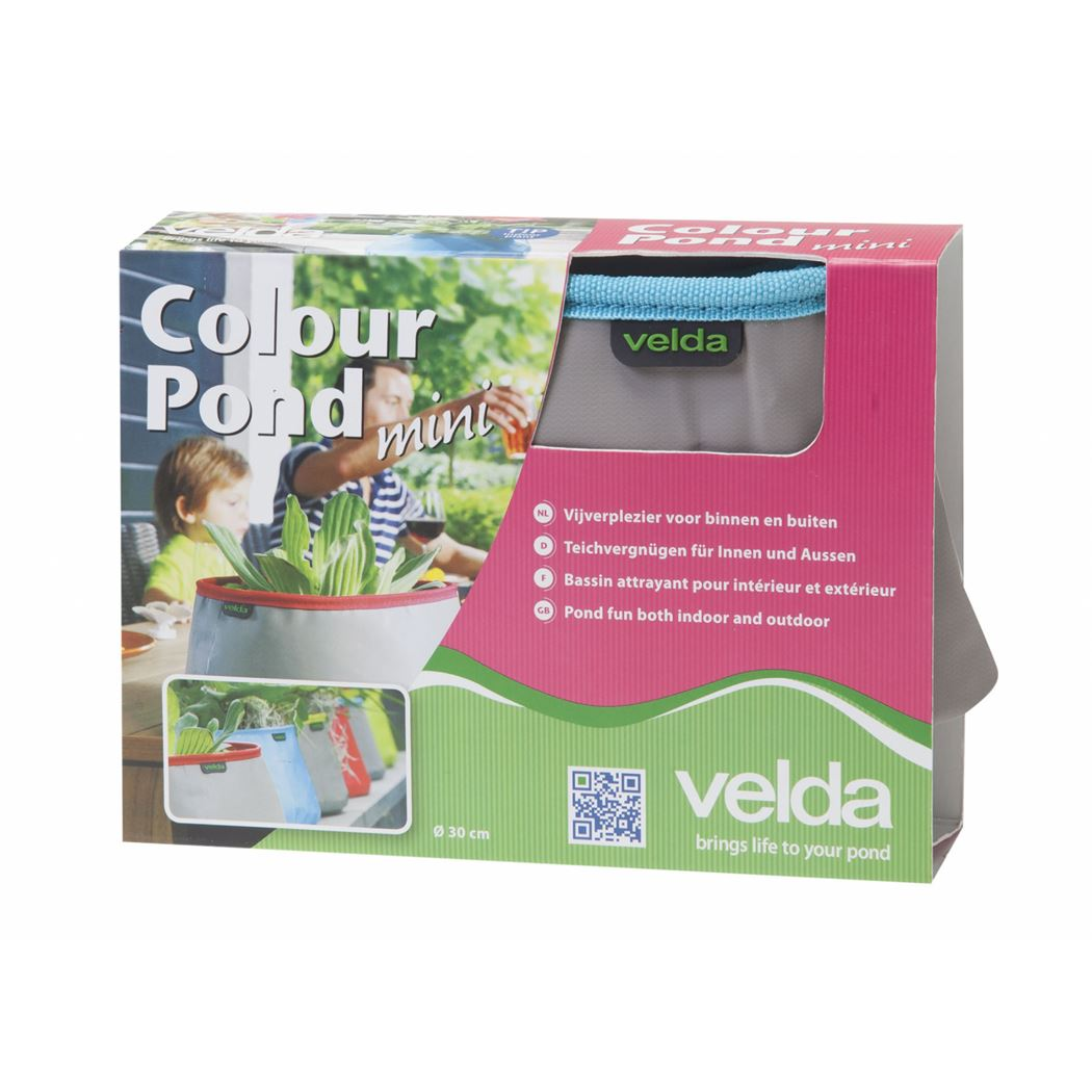 velda colour pond mini grey/aqua
