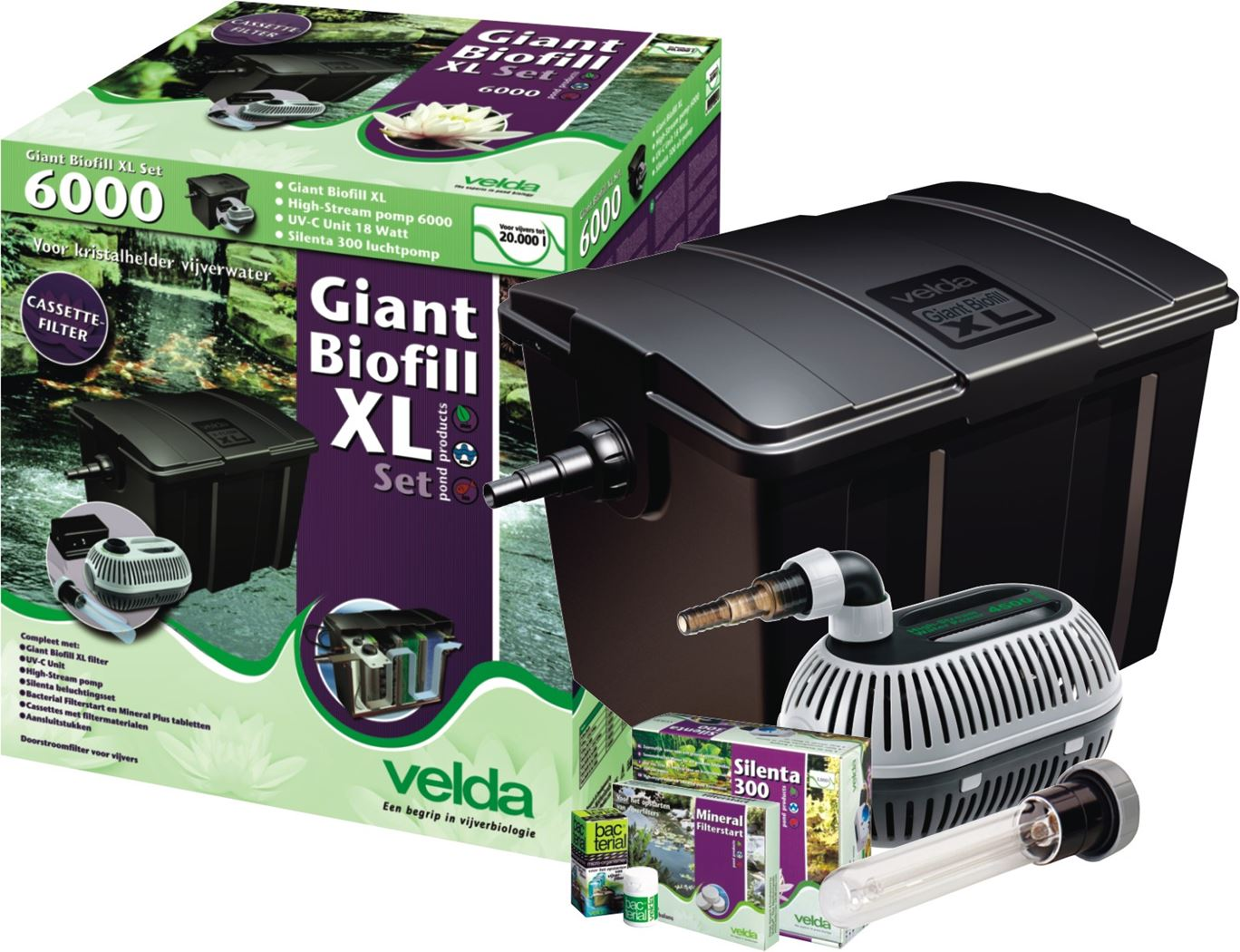 velda filter giant biofill xl set 20000