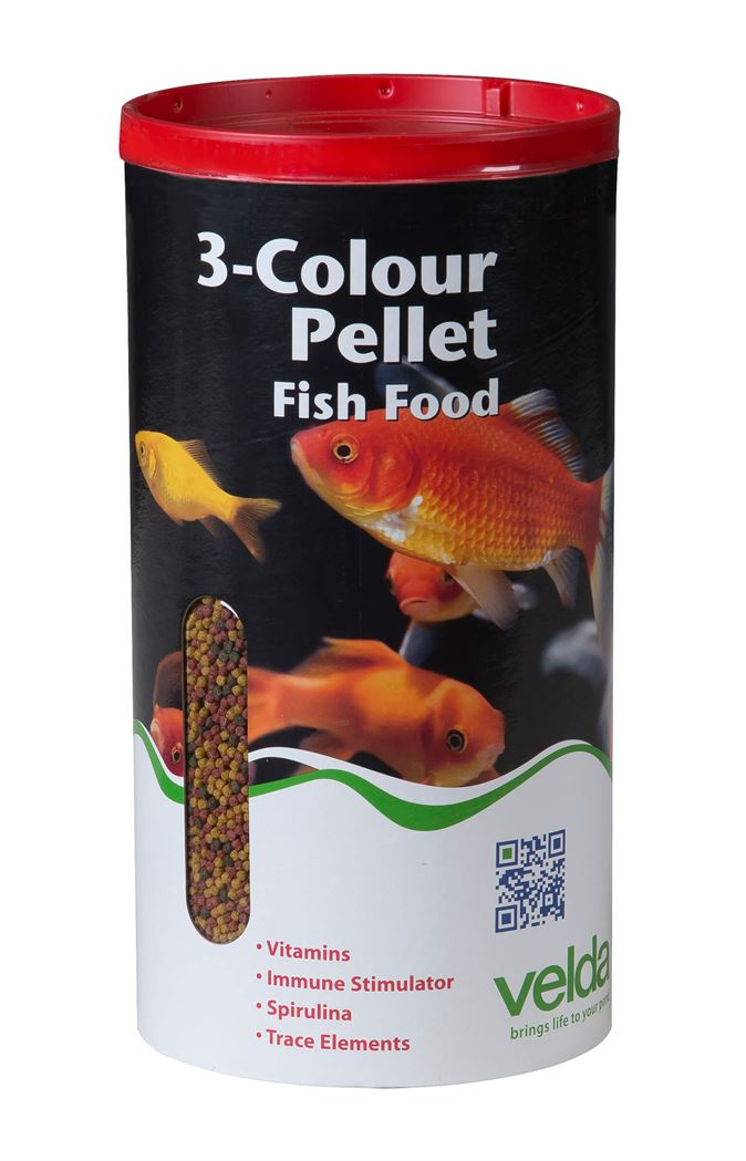 velda visvoer 3-kleurenmix pellet