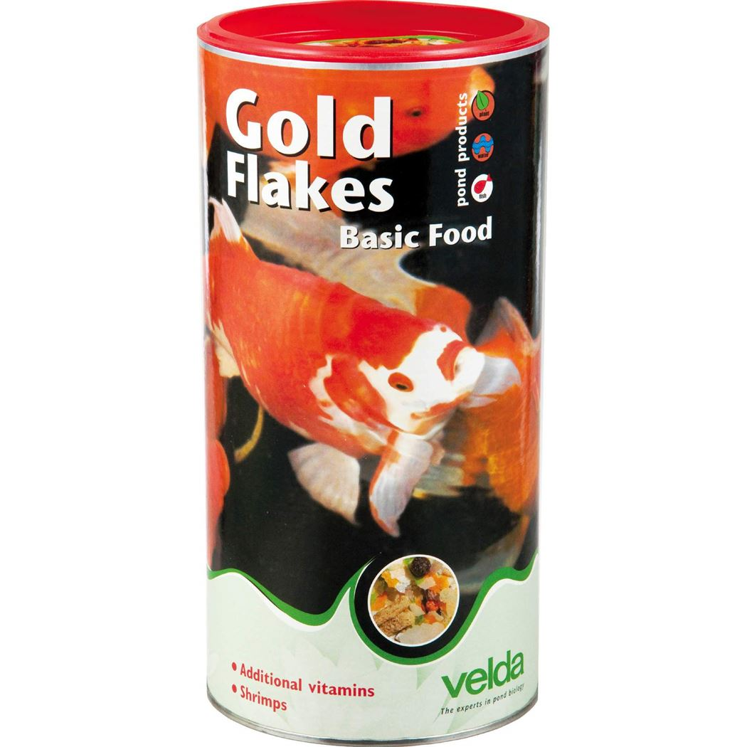 velda visvoer gold flakes basic food