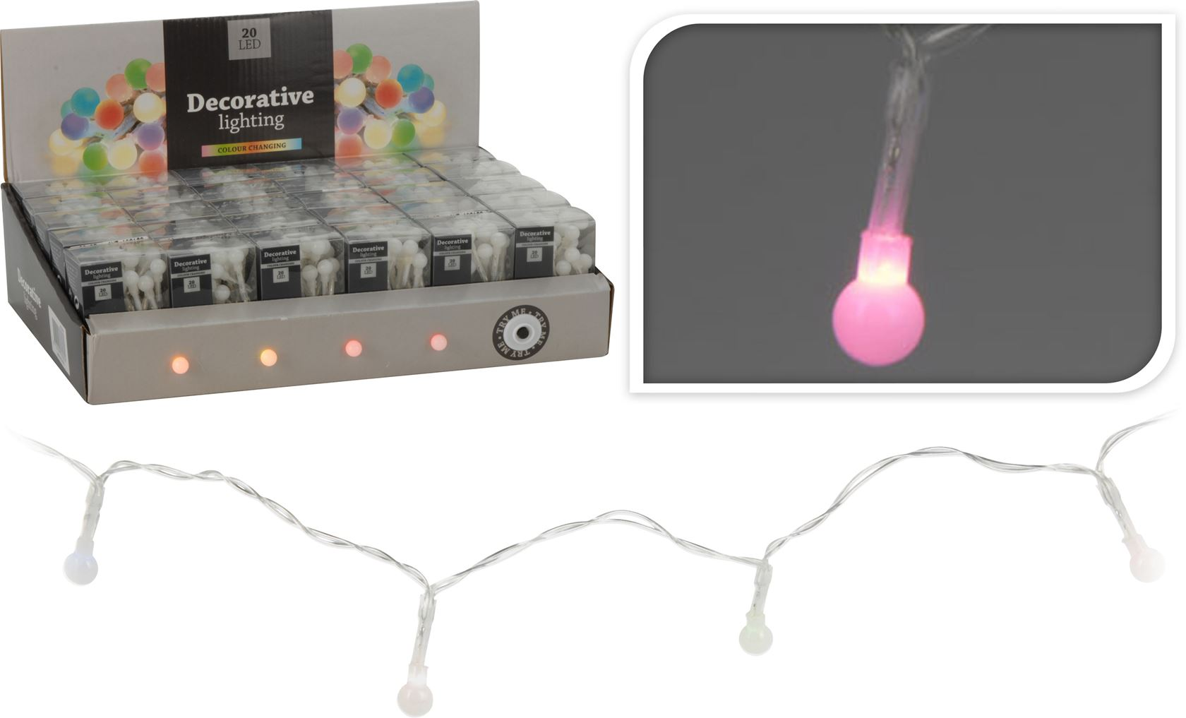 batterijverlichting led bolletjes colour changing (indoor)