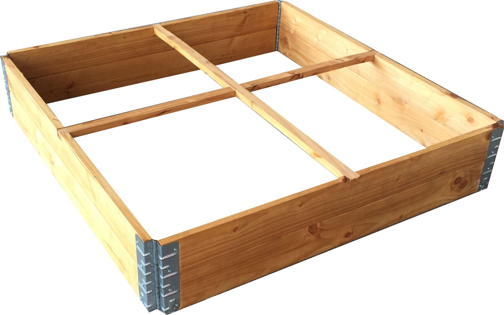 vierkante moestuin douglas met scharnieren en geotextiel