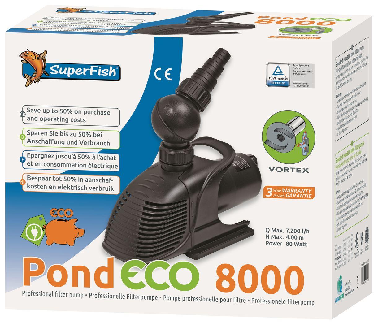 vijverpomp superfish pond eco 8000