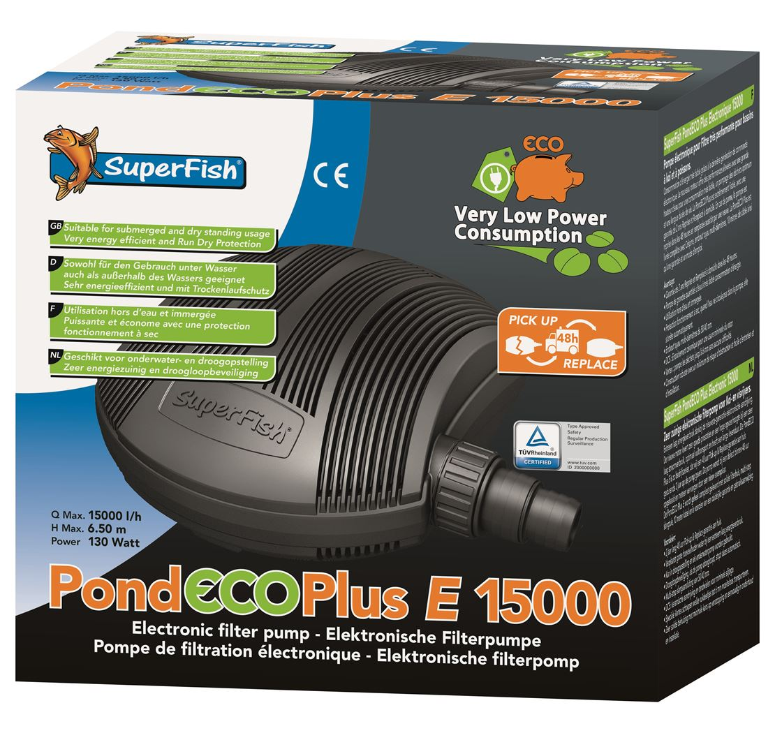 vijverpomp superfish pond eco plus e15000