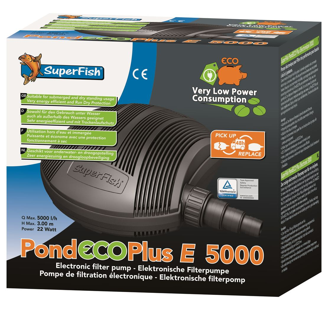 vijverpomp superfish pond eco plus e5000