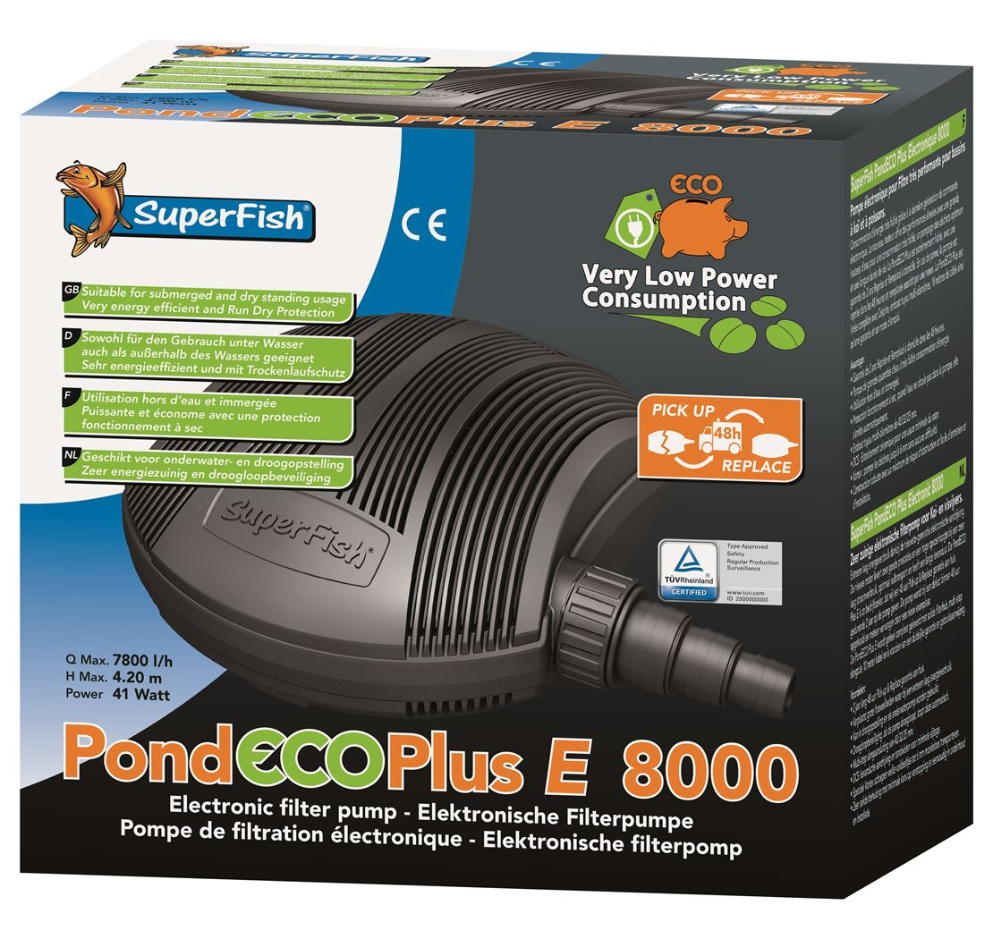 vijverpomp superfish pond eco plus e8000