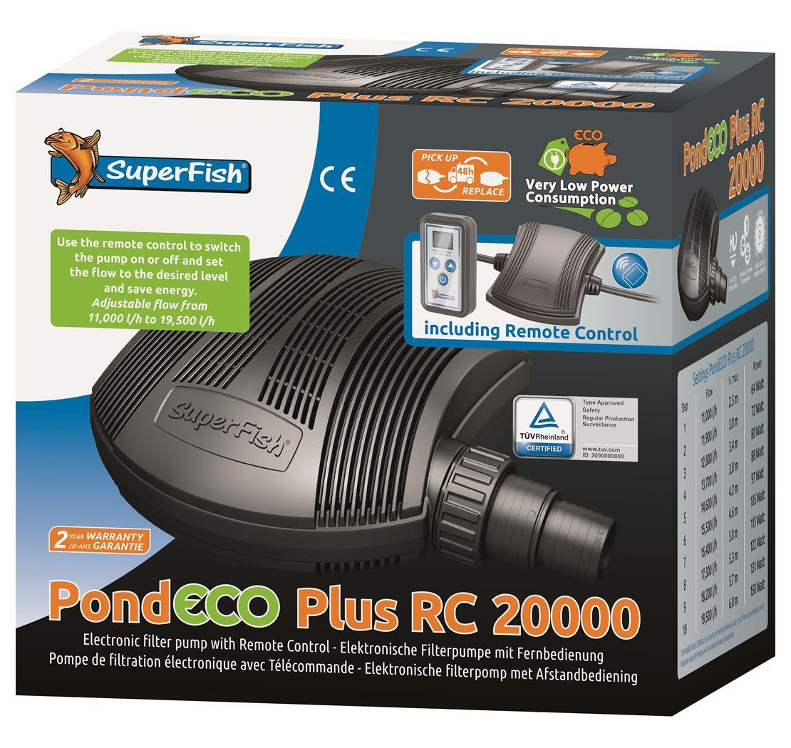 vijverpomp superfish pond eco plus rc20000